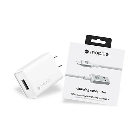 Combo sạc nhanh MOPHIE 10W A-Lightning MFI - White